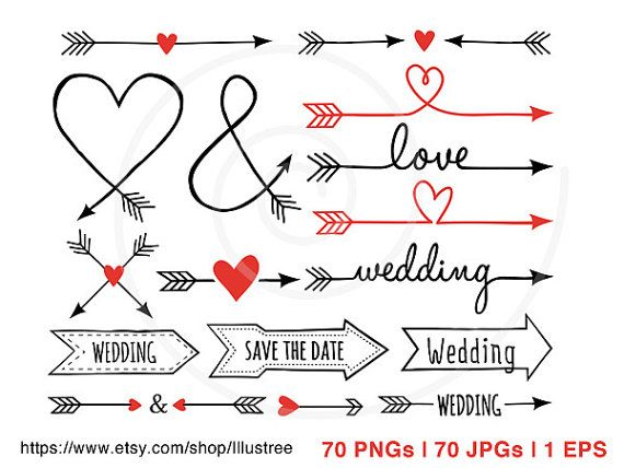 Arrow with heart clipart image download Rustic Arrows And Heart Clipart - Clipart Kid image download