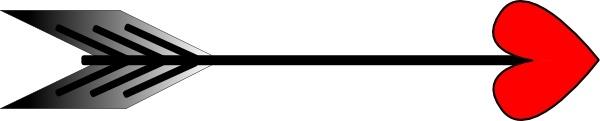 Arrow with heart clipart. Clip art free vector