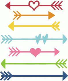 Arrow with heart clipart. Love files for cutting