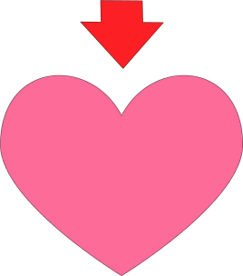 And clip art image. Arrow with heart clipart