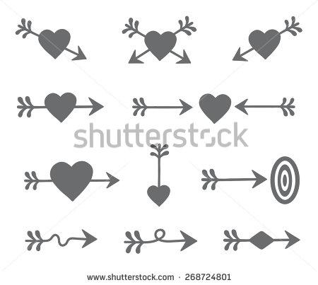 Arrow with heart clipart. Clip art clipartfest premium