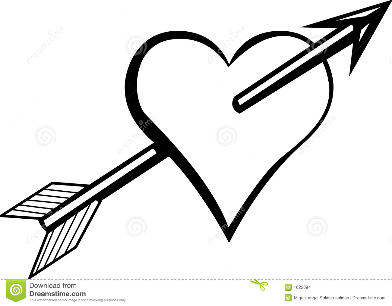 Arrow with heart clipart banner free Rustic Arrows And Heart Clipart - Clipart Kid banner free