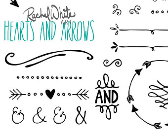 Arrow with heart clipart vector free stock Rustic Arrows And Heart Clipart - Clipart Kid vector free stock