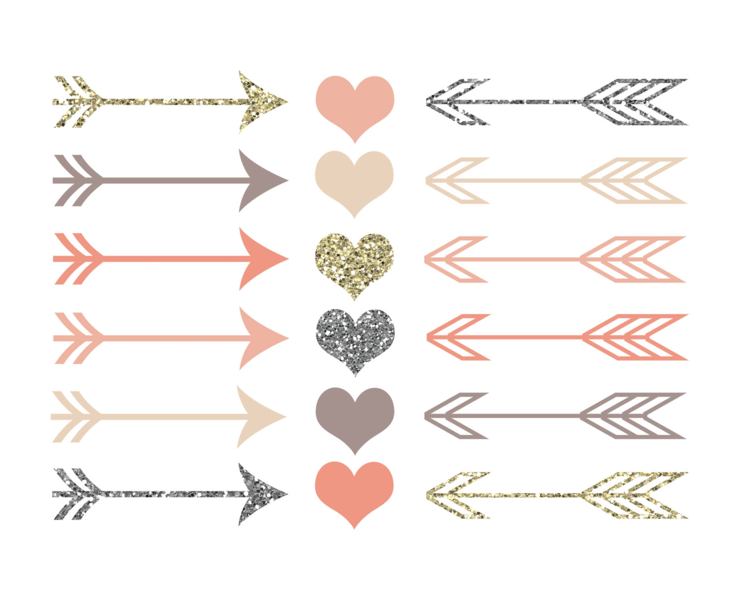 Rustic arrows and kid. Arrow with heart clipart