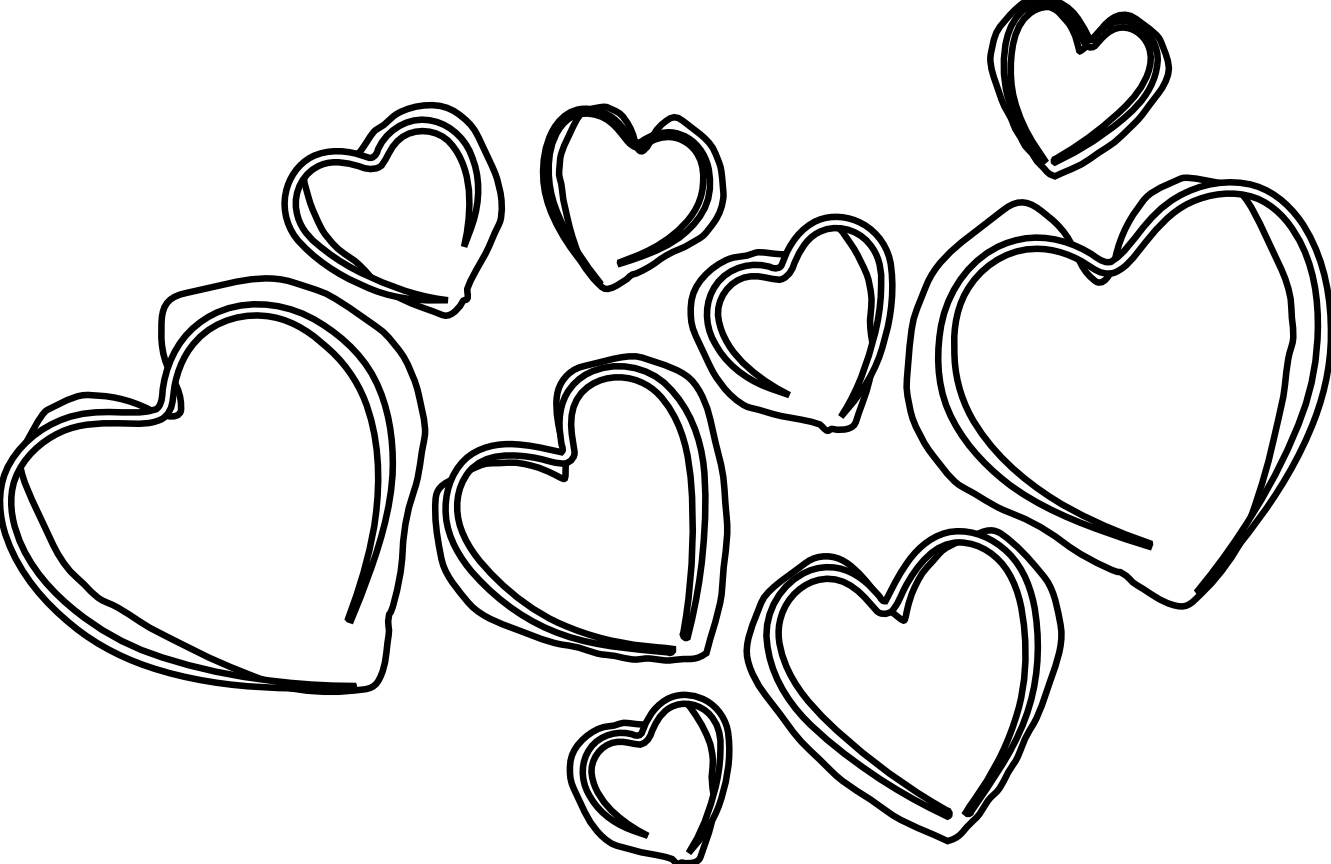 Heart clipart black vector freeuse Heart Outline Drawing at GetDrawings.com | Free for personal use ... vector freeuse