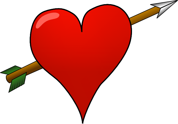 Arrow with heart clipart png png library stock Arrow with heart clipart png - ClipartFest png library stock