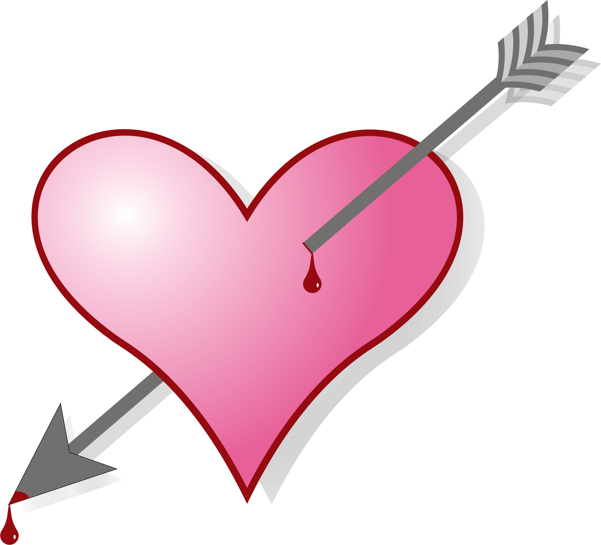 Arrow with heart clipart png graphic freeuse stock Clipart - Arrow & Heart graphic freeuse stock