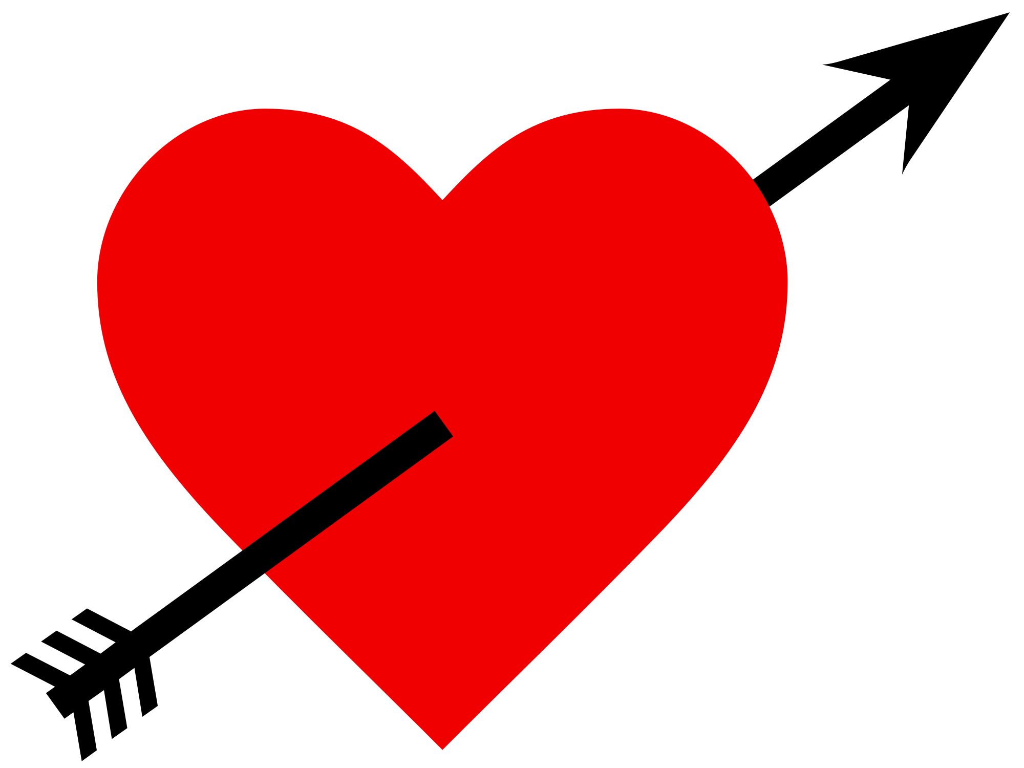 Arrow with heart clipart png picture Heart and Arrow PNG image - PngPix picture