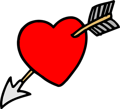 Arrow with heart clipart png transparent download Heart with arrow clip art - ClipartFest transparent download