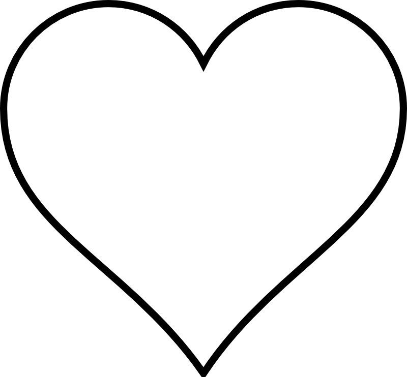 Love heart clipart black and white vector black and white library White Heart Symbol Gallery - meaning of text symbols vector black and white library
