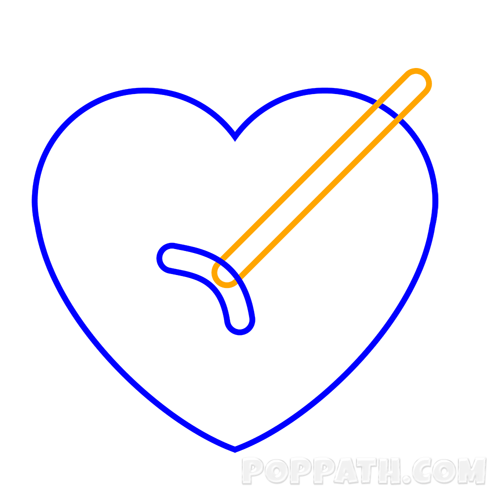 Arrow with heart in middle clipart svg freeuse How To Draw A Heart Arrow Emoji – Pop Path svg freeuse
