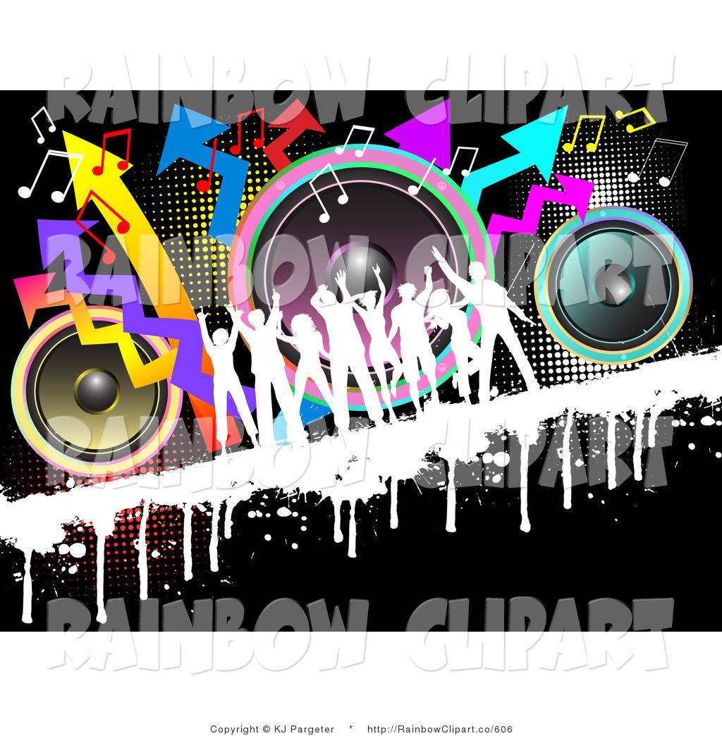 Arrow with music note clipart