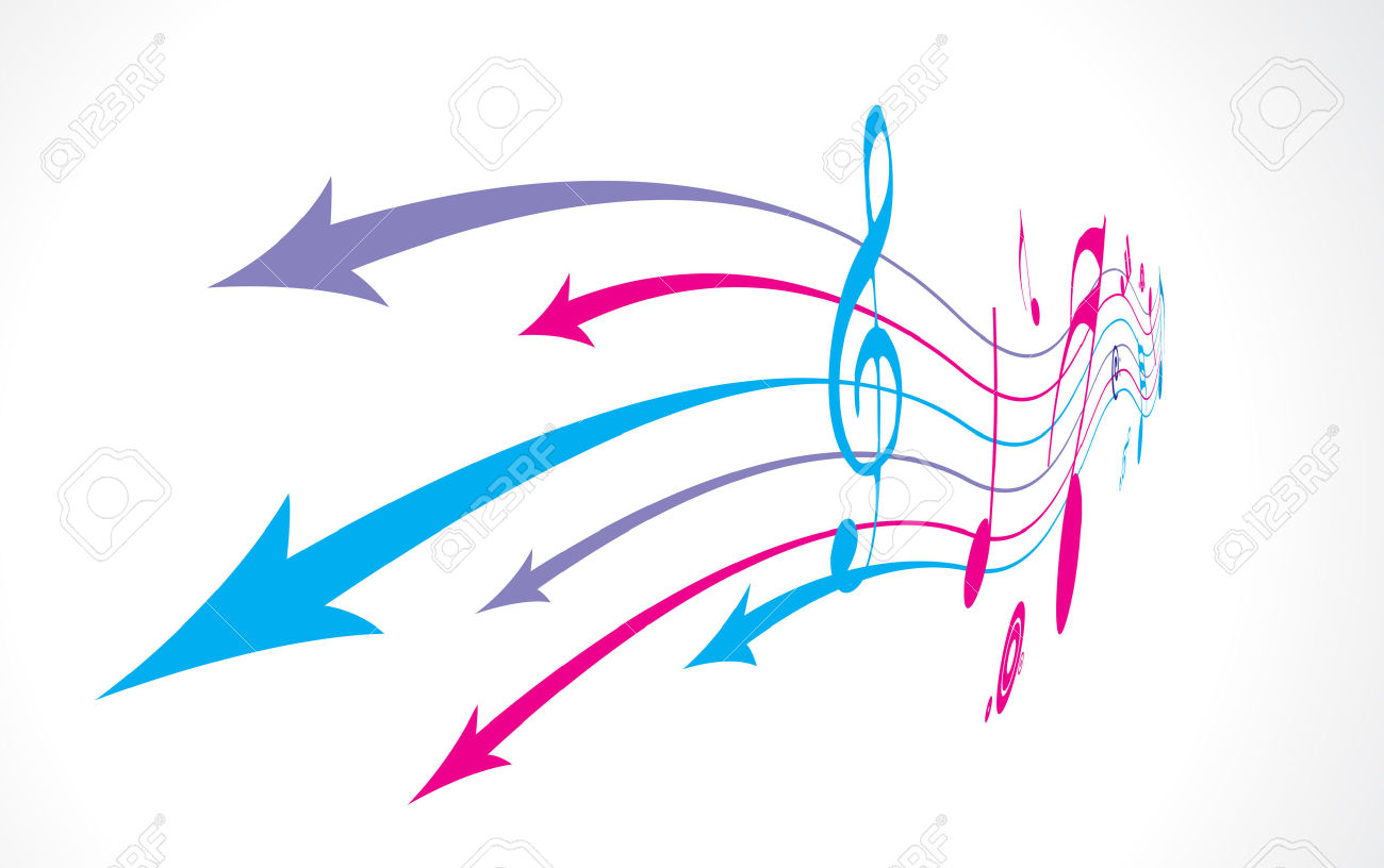 Arrow with music note clipart clip royalty free library Abstract Arrow Background With Music Note Back Ground. Royalty ... clip royalty free library