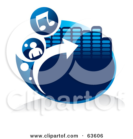 Arrow with music note clipart picture royalty free Royalty-Free (RF) Clipart Illustration of a Blue Music Button With ... picture royalty free
