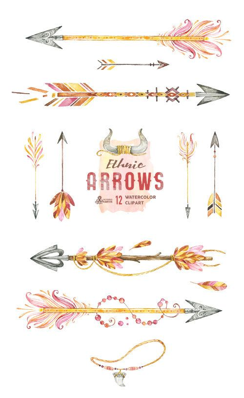 Arrow with three feathers clipart banner transparent download 15 Must-see Watercolor Arrow Tattoo Pins | Feather arrow tattoo ... banner transparent download