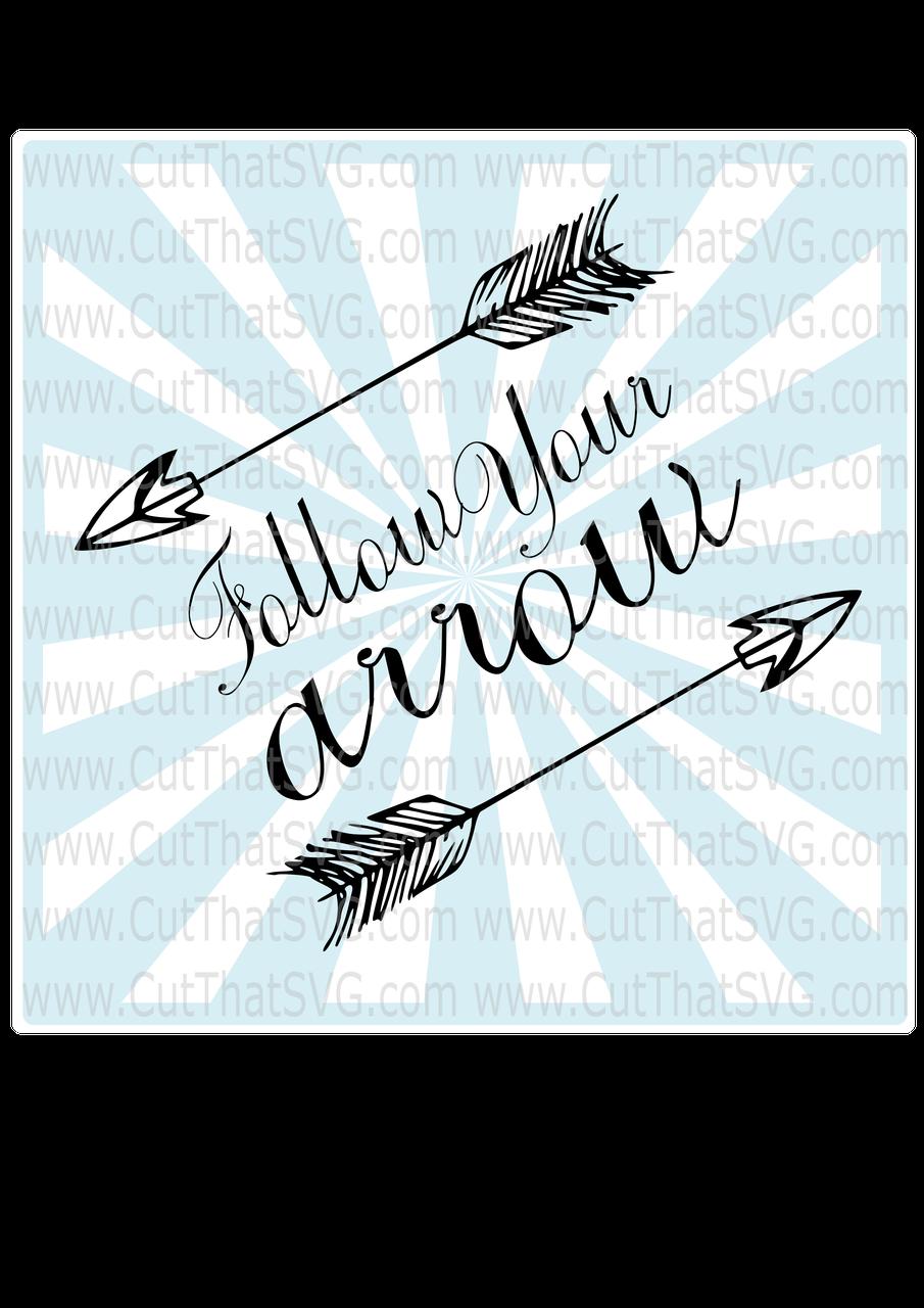 Arrowcut clipart clip art black and white stock Follow your Arrow - Cut File Clipart, SVG, DXF, PNG, SVG clip art black and white stock