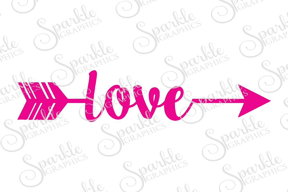 Arrowcut clipart clip art royalty free library Love Arrow Cut File   SVG, EPS, DXF, PNG clip art royalty free library
