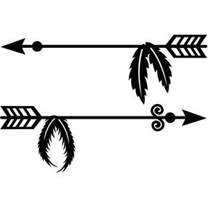 Arrows and feathers clipart picture royalty free library Arrow with feather clipart 3 » Clipart Portal picture royalty free library