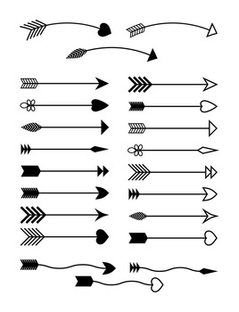 Indian arrow clipart clip art black and white library 22 Arrows Clipart, Tribal Arrow Clip Art, Archery, Boho, Indian, Native  American clip art black and white library
