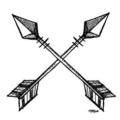 Arrows crossing clipart picture black and white download Crossed arrow clipart 1 » Clipart Station picture black and white download