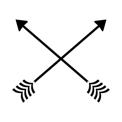 Arrows crossing clipart clipart library download ARROWS CROSSED BW Clip Art - Get Started At ThatShirt! clipart library download