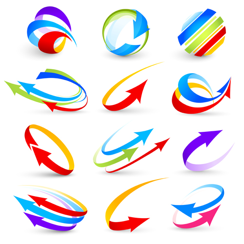 Arrows graphics black and white library Abstract colorful arrows vector graphics - Vector Abstract free ... black and white library