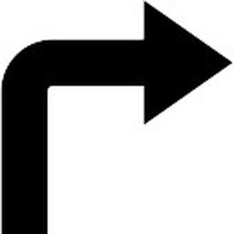 Turn right rondure icons. Arrows to show turning clipart