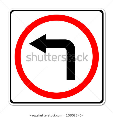 Arrows to show turning clipart. Traffic sign turn right