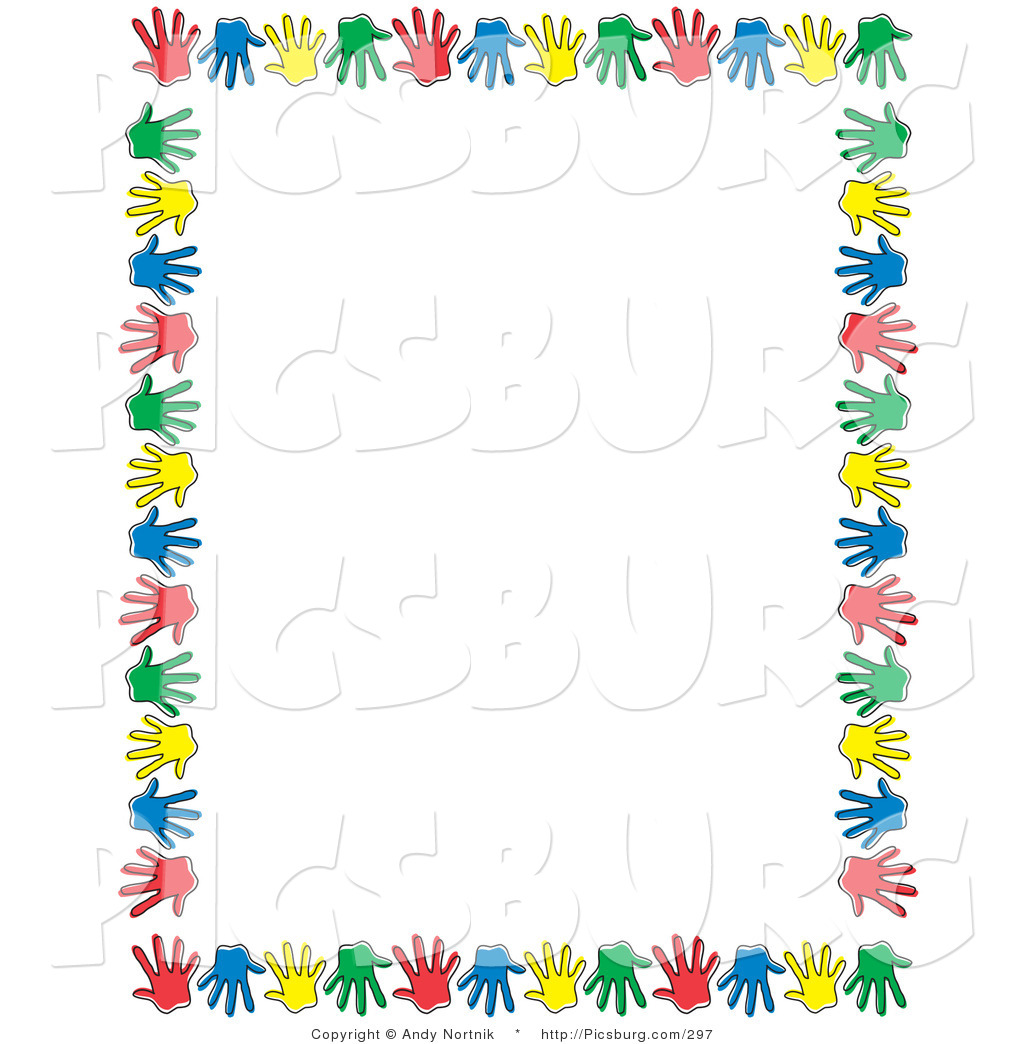 Art borders clip art jpg free library Free Clip Art Borders and Frames with Children | Hands Colorful ... jpg free library