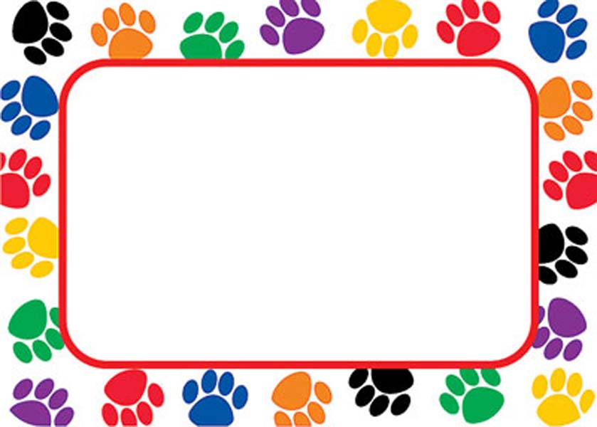 Art borders clip art png royalty free library Paw Border Clipart - Clipart Kid png royalty free library