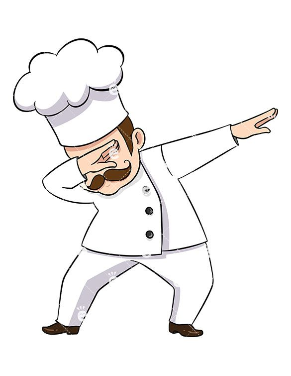Art chef clipart clip free stock Dabbing Chef | Cartoons art in 2019 | Cartoon art, Chef logo, Clip art clip free stock