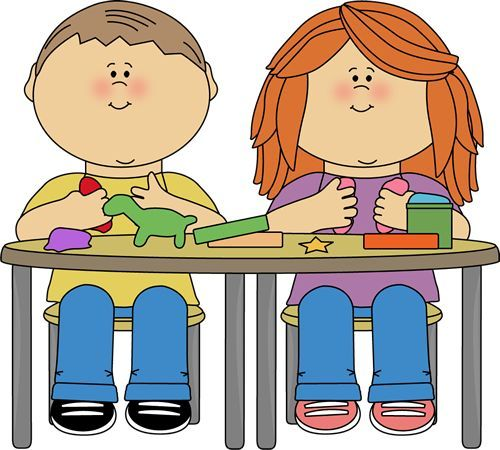 Kids playing a boardgame classroom clipart clip Playdough Clipart - Free Clip Art Images | Play Dough Etc ... clip