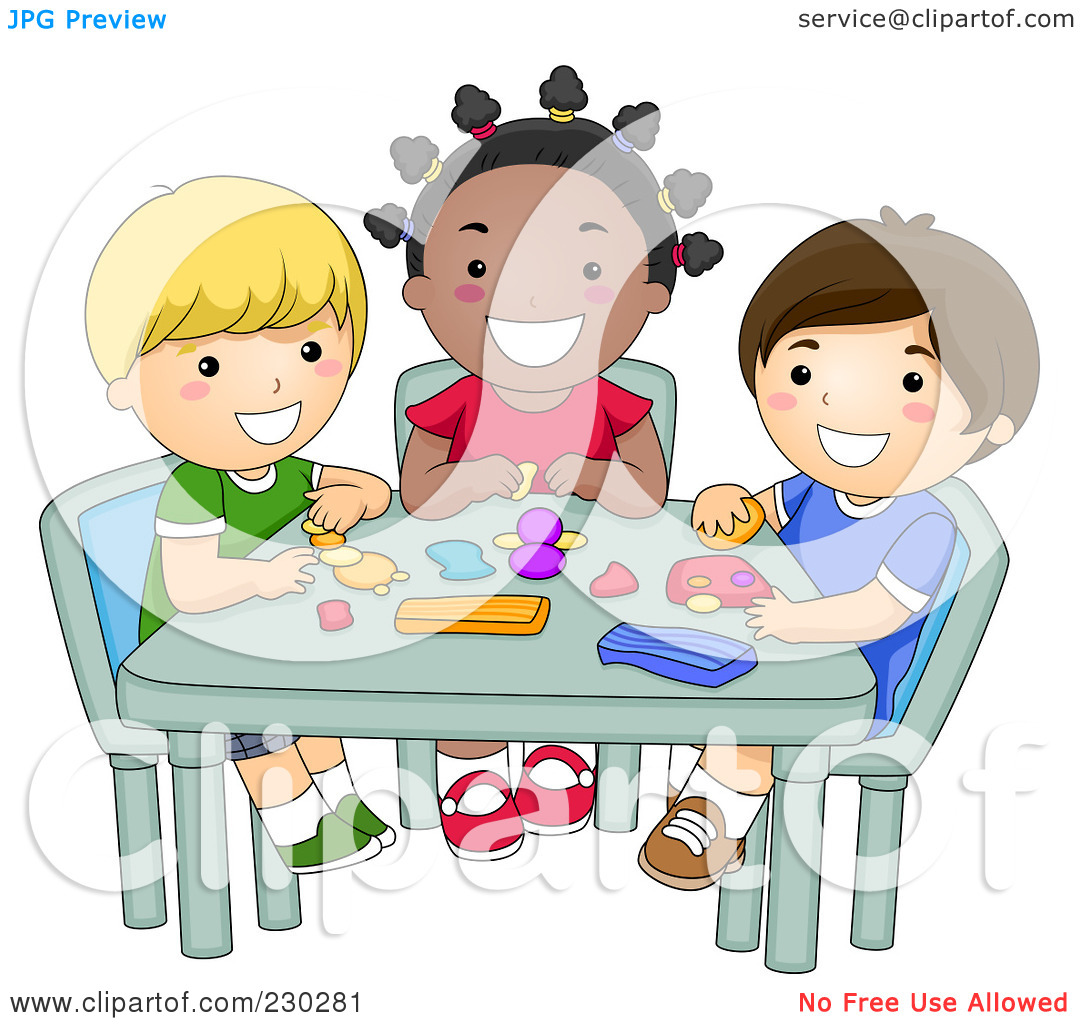 Art children clay clipart graphic free Kids Molding Clay In Art | Clipart Panda - Free Clipart Images graphic free