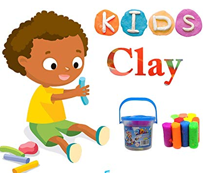 Art children clay clipart image freeuse Buy Leysin Kids School and Home Use Accessories Colorful Clay Set ... image freeuse