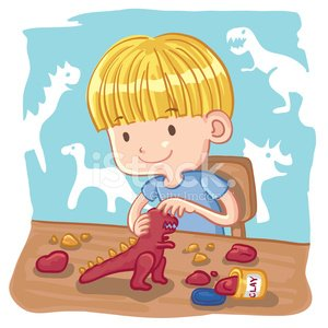 Art children clay clipart image free Young Boy Molding A Dinosaur With Clay premium clipart - ClipartLogo.com image free