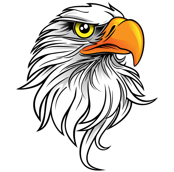 Eagle head vector beading. Art clip free download