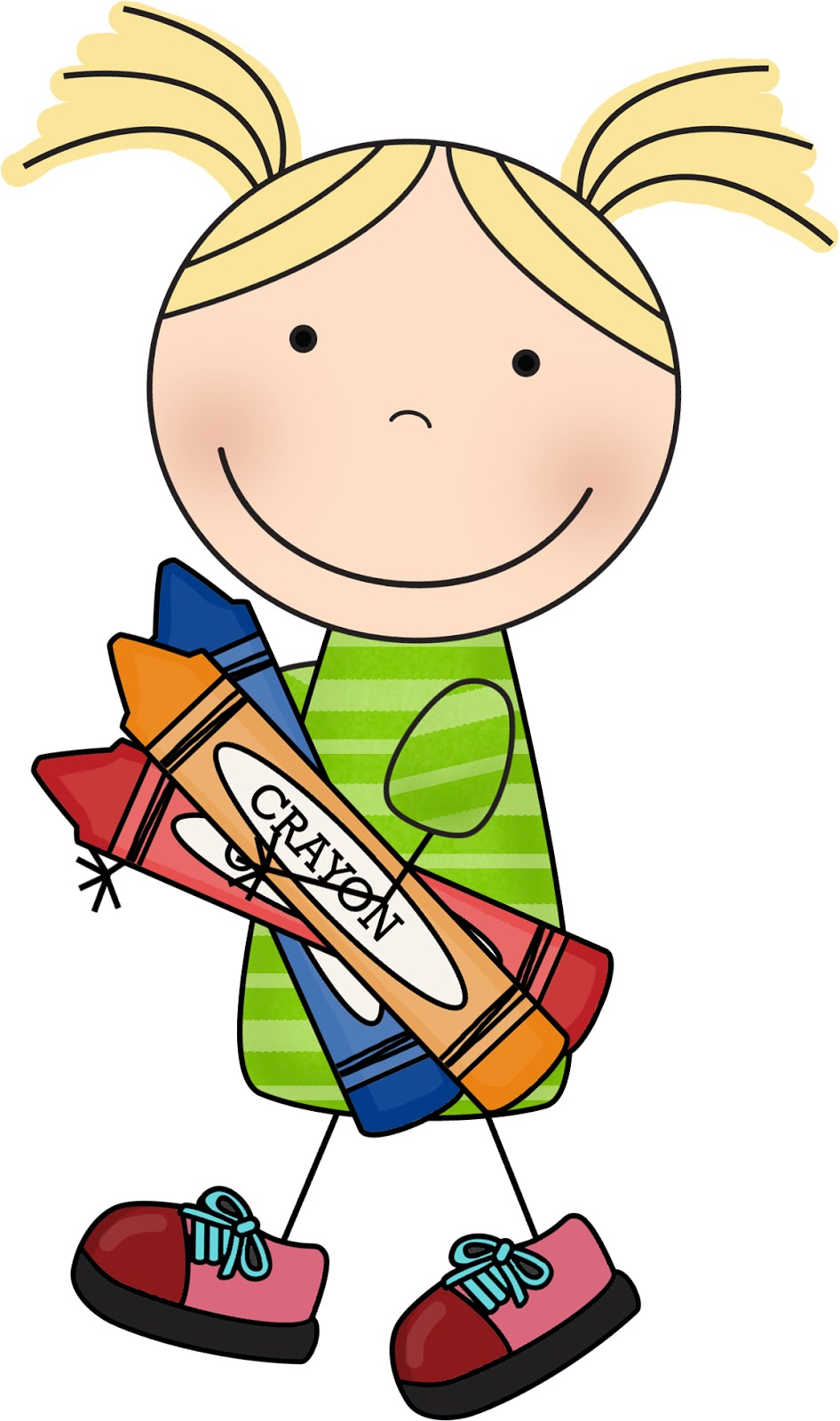 Cute kids and school clipart
