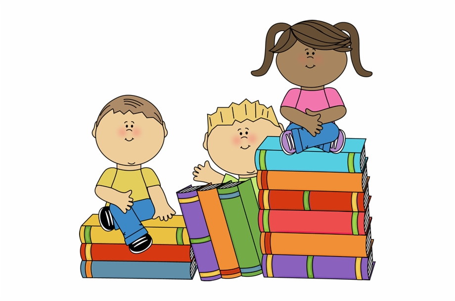 Art clipart kids svg free Kids Sitting On Books Clip Art Image Stack Of Big Books - Book ... svg free