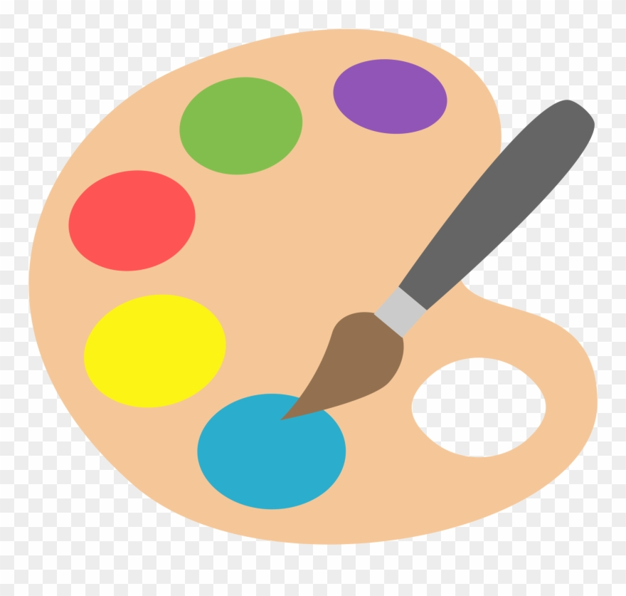 Art clipart paint jpg library Painting Clipart Paint Palette - Art Emoji Png Transparent Png ... jpg library