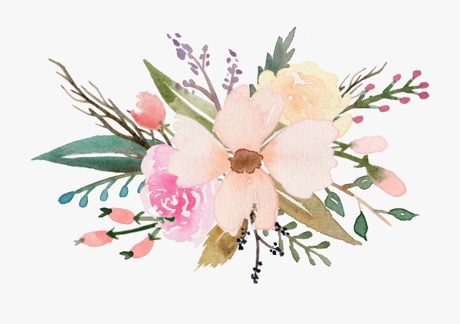 Boque clipart picture stock Flower Bouquet Clipart Png - Watercolor Flower Clip Art Free #13888 ... picture stock