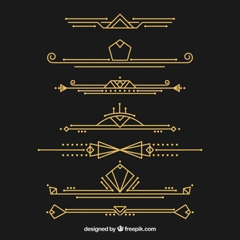 Art deco black and gold design clipart graphic royalty free stock Art Deco Vectors, Photos and PSD files | Free Download graphic royalty free stock