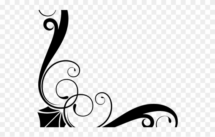 Art nouveau clipart scroll royalty free library Line Clipart Art Deco - Victorian Border Png Transparent Png ... royalty free library