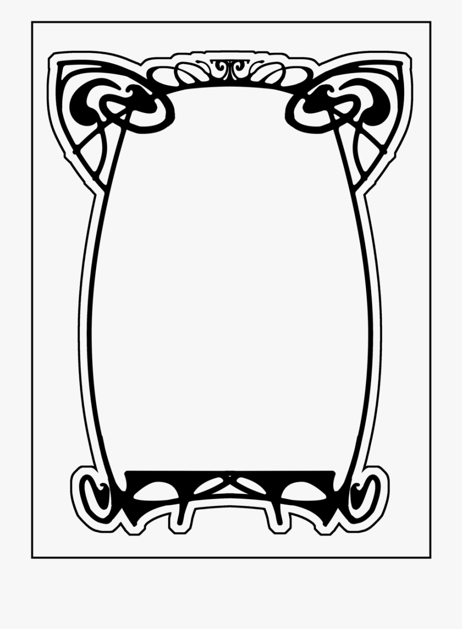 Art nouveau frame clipart black & white png transparent download Nouveau Frame Clipart - Art Deco Frame Clipart #131703 - Free ... png transparent download