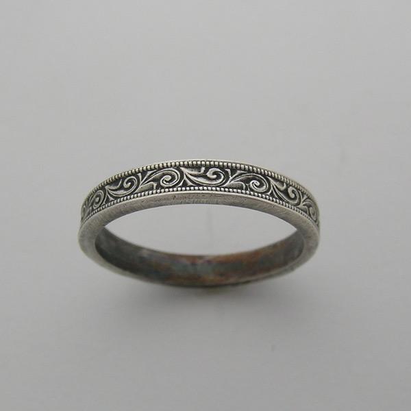 Antique wedding ring k. Art deco engraving patterns