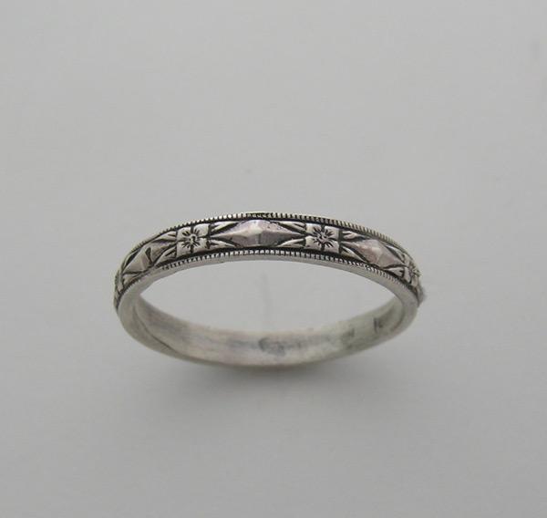 Wedding ring band k. Art deco engraving patterns