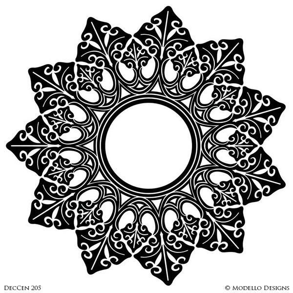 Art deco medallion clipart vector black and white library DecCen205 vector black and white library