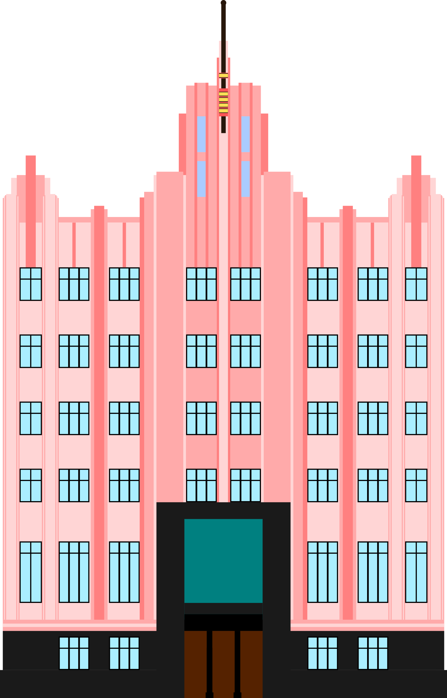 Art deco open clipart image freeuse Art Deco Building by @derkommander0916, An art deco commercial ... image freeuse