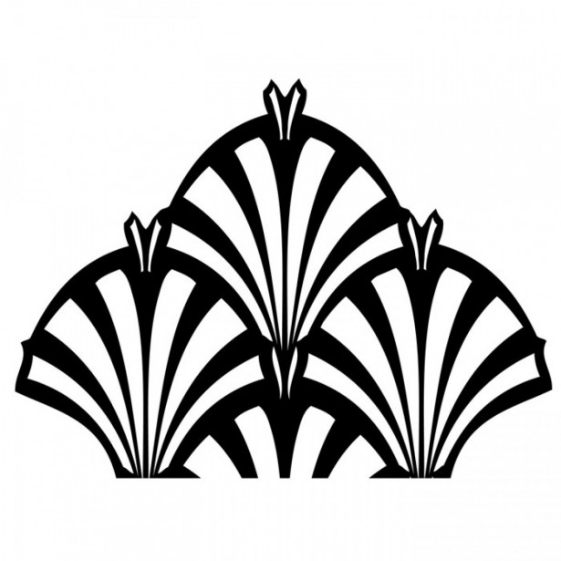 Art deco patterns clipart banner black and white library Pix For > Art Deco Clip Art Vector | Gastby | Pinterest | Clip art ... banner black and white library