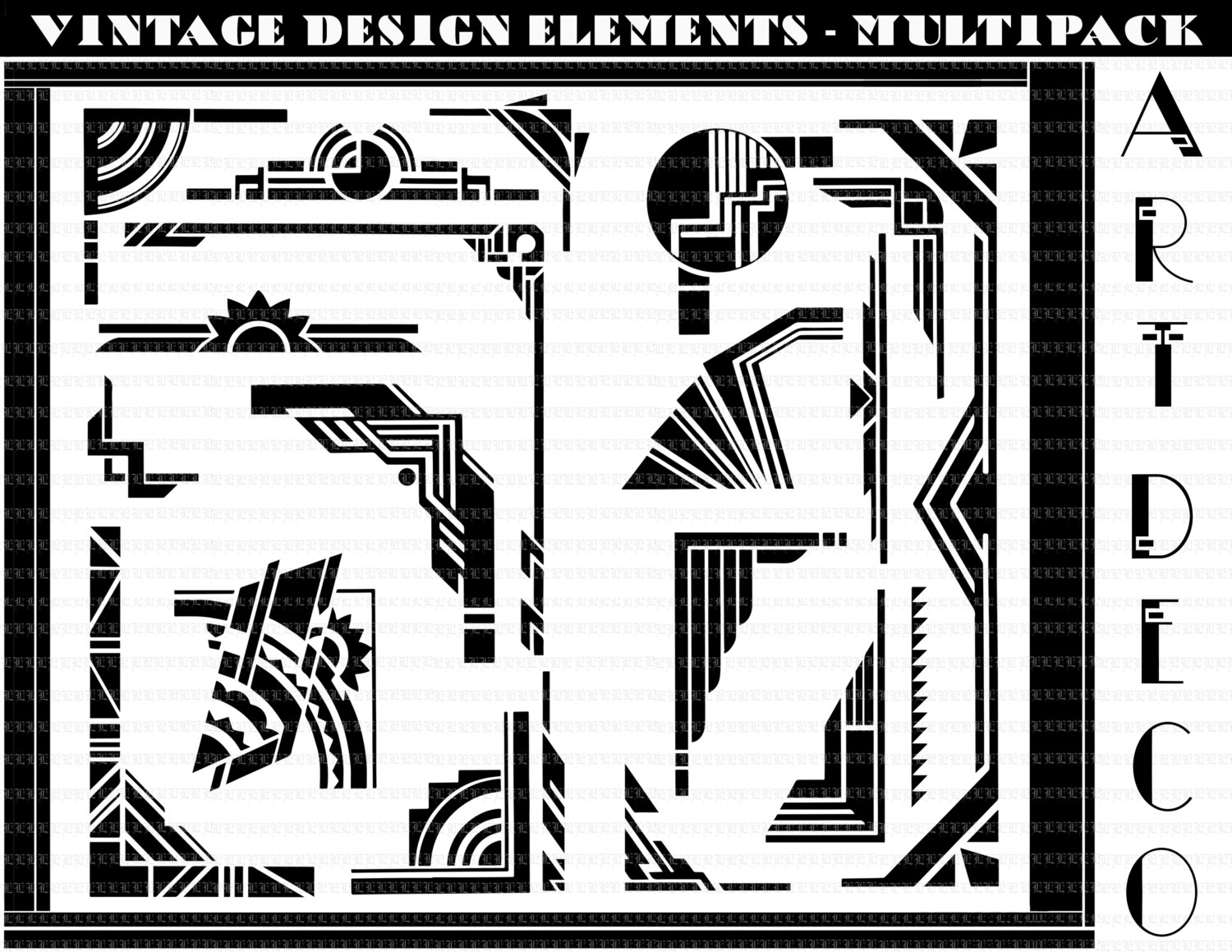 Art deco patterns clipart jpg black and white download Art deco glasses clipart - ClipartFest jpg black and white download