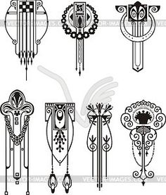 Art deco patterns clipart jpg black and white download Art deco patterns clipart - ClipartFest jpg black and white download